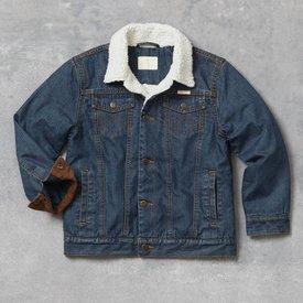 Wrangler Boy's Western Sherpa Lined Denim Jacket 84256RT