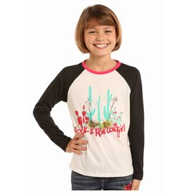 Rock and Roll Cowgirl Girl's Rock & Roll Cowgirl T-Shirt G4T8601