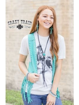 Crazy Train Women's Crazy Train MINT-JITO STUDDED *SHORT* VEST