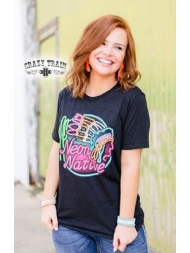 Crazy Train Women's Crazy Train Neon Native T-Shirt H2