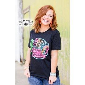 Crazy Train Women's Neon Native T-Shirt Size XL