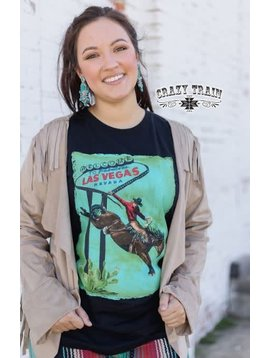 Crazy Train Women's Crazy Train Fabulous Las Vegas Bucking T-Shirt 12