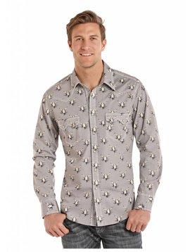 Panhandle Men's Rock & Roll Cowboy Snap Front Shirt B2S8016