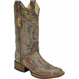 Corral Women's Butterfly Inlay Western Boot C3