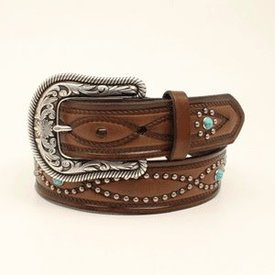 Ariat Women's Turquoise Beaded Belt