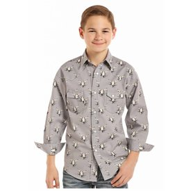 Panhandle Boy's Rock & Roll Cowboy Snap Front Shirt B8S8016