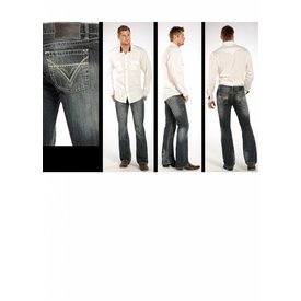 ROCK&ROLL COWBOY Men's Rock & Roll Cowboy Slim Fit Pistol Jean M0P2602M