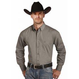 Panhandle Men's Grey Button Down Shirt Size XLT C3