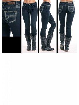 ROCK&ROLL DENIM Women's Rock & Roll Cowgirl Mid-Rise Skinny Jean W1S8709
