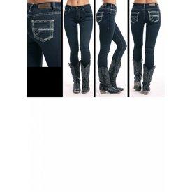 Rock & Roll Denim Women's Rock & Roll Cowgirl Mid-Rise Skinny Jean W1S8709 C3