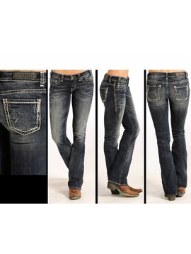Rock and Roll Cowgirl Women's Rock & Roll Cowgril Rival Low Rise Jean W6-4489 C5 27 38
