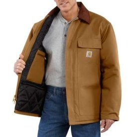 Carhartt Men's Carhartt Arctic Quilt Lined Duck Traditional Coat C003-BRN TALL