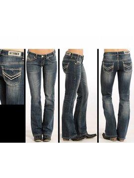 ROCK&ROLL DENIM Women's Rock & Roll Cowgirl Riding Fit Boot Cut Jeans W7-4506 C5