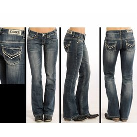 ROCK&ROLL DENIM Women's Rock & Roll Cowgirl Riding Fit Boot Cut Jeans W7-4506 C5