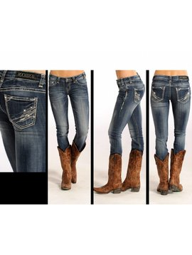 Rock and Roll Cowgirl Women's Rock & Roll Cowgirl Low Rise Skinny Jean W0S4488 C5 27 34