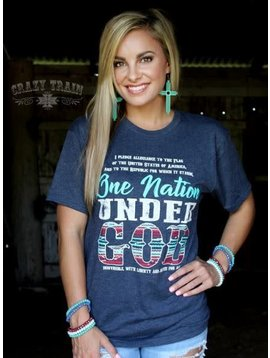 Crazy Train Women's Crazy Train One Nation T-Shirt L3