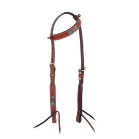 Rafter T Single Ear Headstall Rawhide Arrow Design SE3568