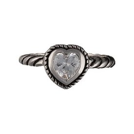 Montana Silversmiths Twisted Rope Heart Ring