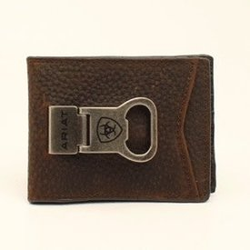 Ariat Men's Bi-Fold Money Clip Wallet