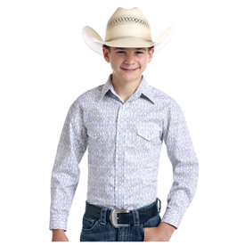 Panhandle Boy's Rough Stock Snap Front Shirt R2S9438