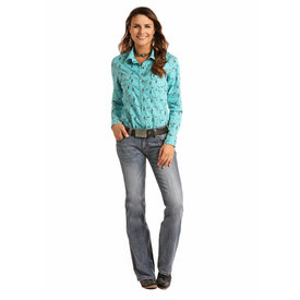 Rock and Roll Cowgirl Women's Rock & Roll Cowgirl Snap Front Shirt B4S9114