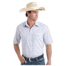 ROCK&ROLL COWBOY Men's Rough Stock Snap Front Shirt R1S9438