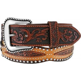 Tony Lama Men's  Austin Scalloped Studded Belt