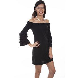 Scully Women's Black Ruffle Dress