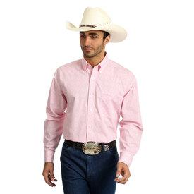 Wrangler Men's Wrangler Tough Enough To Wear Pink Button Down MTP263M