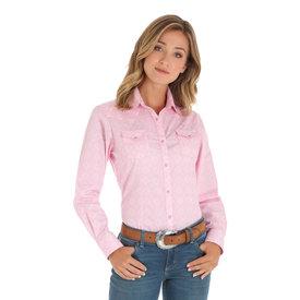 Wrangler Women's Wrangler Tough Enough To Wear Pink Snap Front Shirt LWB262M