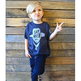 "Mason Jar Label Children's Mason Jar Label ""Say When"" T-Shirt"