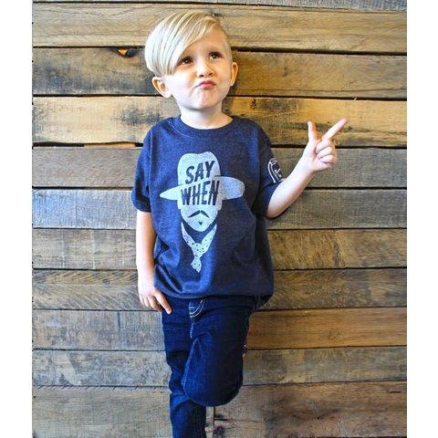 "Children's Mason Jar Label ""Say When"" T-Shirt"