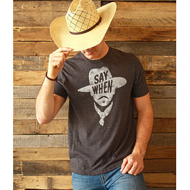 "Mason Jar Label Men's Mason Jar Label ""Say When"" T-Shirt"