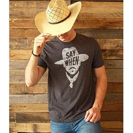 "Mason Jar Label Men's ""Say When"" T-Shirt Size Small"