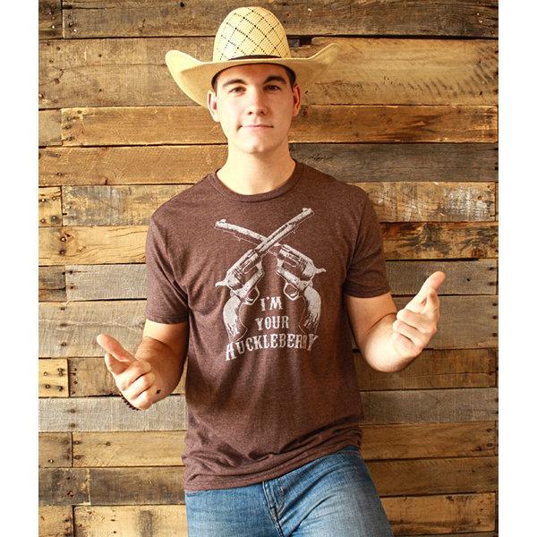 "Mason Jar Label Men's Mason Jar ""I'm Your Huckleberry"" T-Shirt"