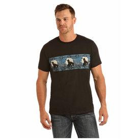 ROCK&ROLL DENIM Men's Rock & Roll Cowboy T-Shirt P9-1100