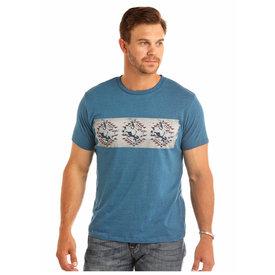 ROCK&ROLL DENIM Men's Rock & Roll Cowboy T-Shirt P9-1610