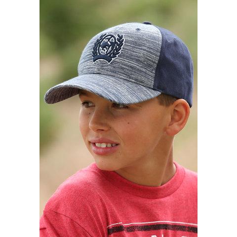 Navy/Grey Twill Kids Cap