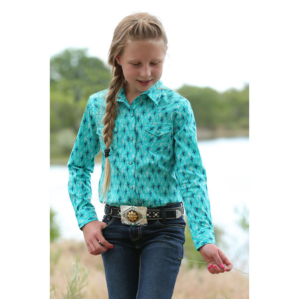 Cruel Girl Girl's Cruel Girl Snap Front Shirt CTW3230010