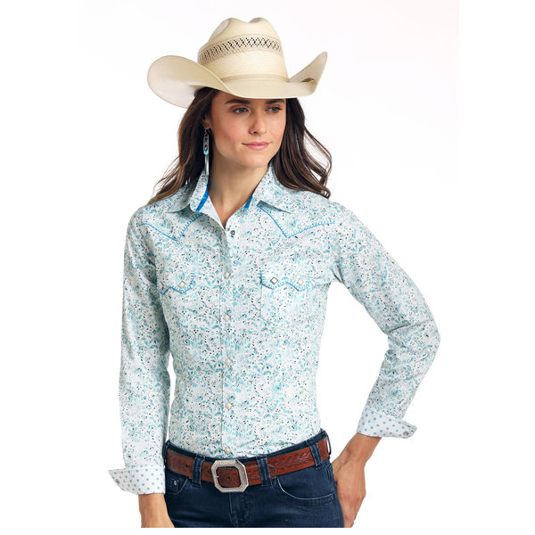 Panhandle Women's Rough Stock Snap Front Shirt R4S1508