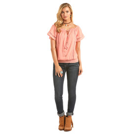 Rock and Roll Cowgirl Women's Rock & Roll Cowgirl Blouse B5C1191