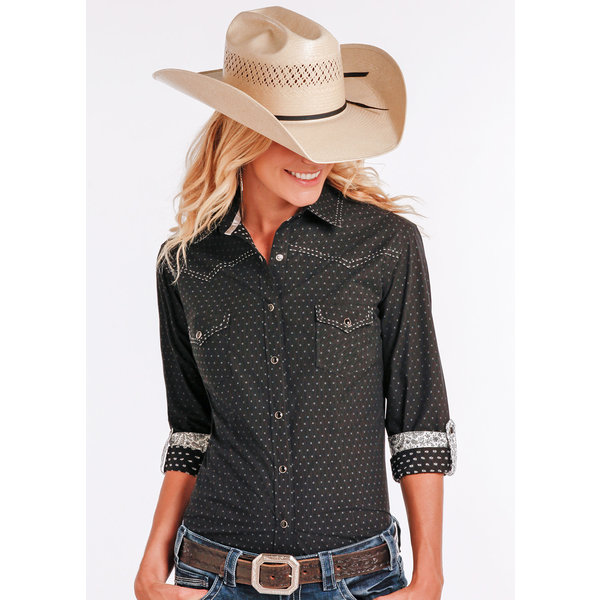Panhandle Women's Rough Stock Snap Front Shirt R4S2215