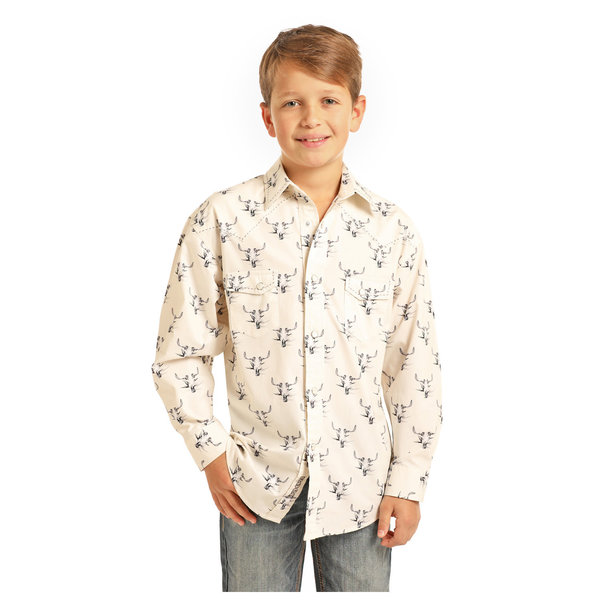 Panhandle Boy's Rock & Roll Cowboy Print B8S1140
