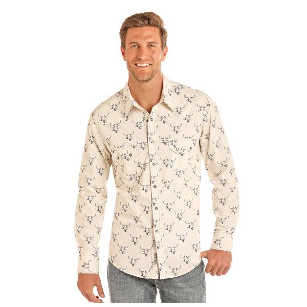 Panhandle Men's Rock & Roll Cowboy Snap Front Shirt B2S1140