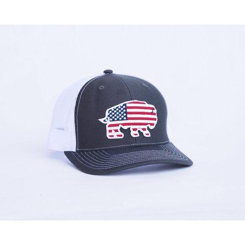 Men's Red Dirt Hat Co. USA Buffalo Cap RDHC3