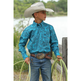 Cinch Boy's Cinch Button Down Shirt MTW7060208