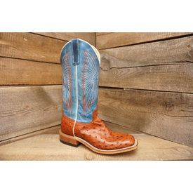 Anderson Bean Men's Pecan Full Quill Ostrich Boot