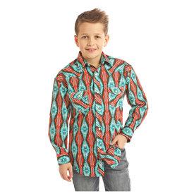 ROCK&ROLL COWBOY Boy's Rock & Roll Cowboy Snap Front Shirt B8S2331