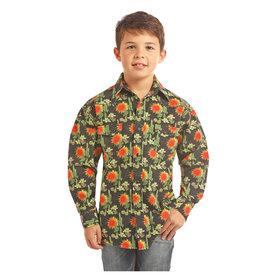 ROCK&ROLL COWBOY Boy's Rock & Roll Cowboy Snap Front Shirt B8S2329