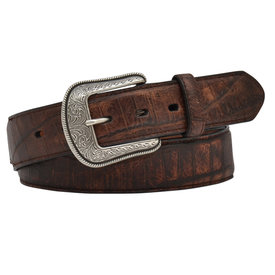3D Belt Co Men's Crocodile Print Western Belt